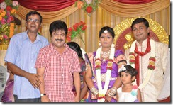 Pandiarajan at Major Dasan Daughter Wedding Reception Photos