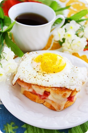 Croque Madame and Monsieur