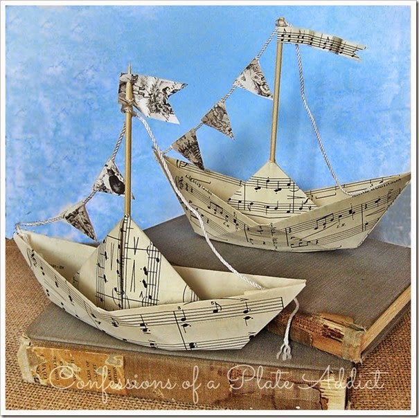 CONFESSIONS OF A PLATE ADDICT Sheet Music Sailboats