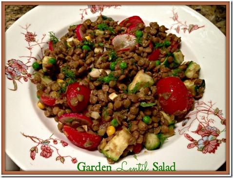 garden lentil salad