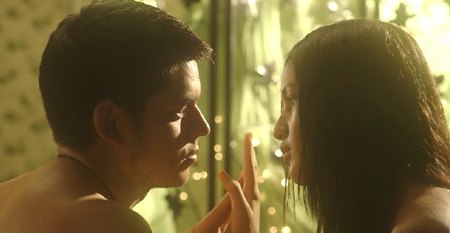 Richard Gutierrez and Sarah Lahbati in Seduction
