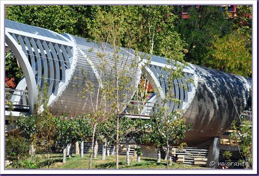 puente monumental de arganzuela - sector sobre el parque