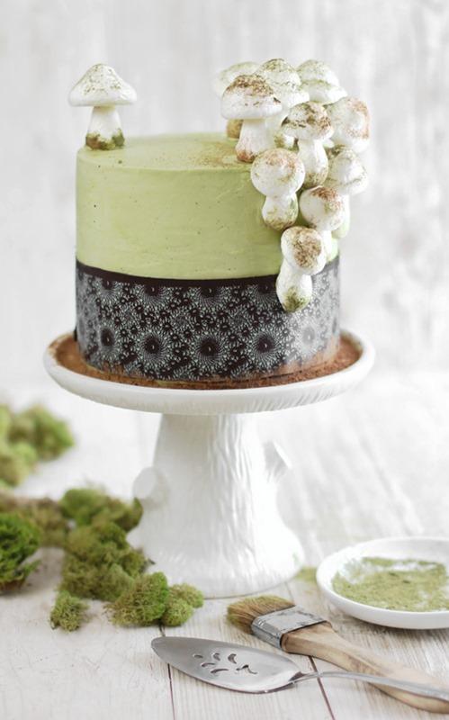 Matcha-Almond Mushroom Cake SprinkleBakes
