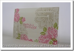 Amanda Bates, The Craft Spa, SU UK demonstrator , Stippled Blossoms, Hello Doily (1)