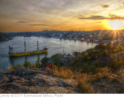'Sunset on St John's harbour' photo (c) 2011, Emmanuel Milou - license: http://creativecommons.org/licenses/by-sa/2.0/