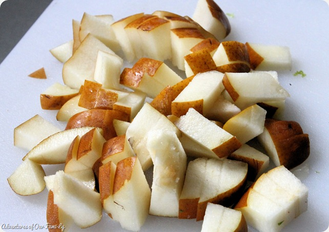 pear and goat cheese salad chopped pears