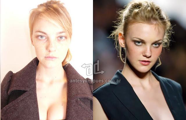 Fotos de la modelo Caroline Trentini sin maquillaje