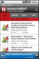 Screenshot of HuskerAddict Football