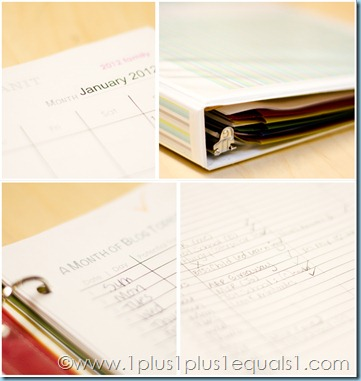 List Plan It Family Binder