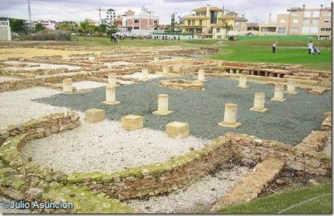 Zona residencial de la villa romana