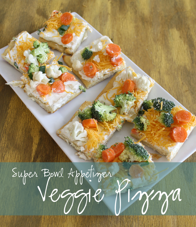 Veggie Pizza Recipe - great big game appetizer
