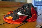 nike lebron 11 gr black red 11 03 New Photos // Nike LeBron XI Miami Heat (616175 001)