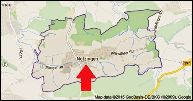 Map of Notzingen Germany