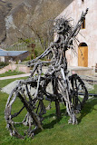 """Lola"", Chard Farm's Resident Bikie Chick Made Out of Grape Vines - Gibbston, New Zealand"