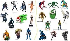 heróis do painél Inspiração Animal