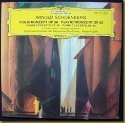 Schoenberg Conciertos Kubelik lp