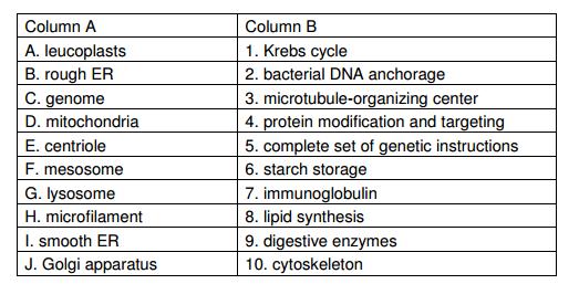 Biology Olympiad questions