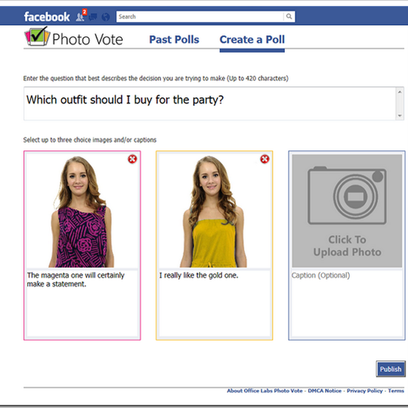 Picture Poll Your Facebook Friends with Photo Vote
