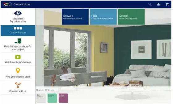 Dulux Visualizer – cool app lets you view your room in any color instantly, interior design just got real via Red Ferret