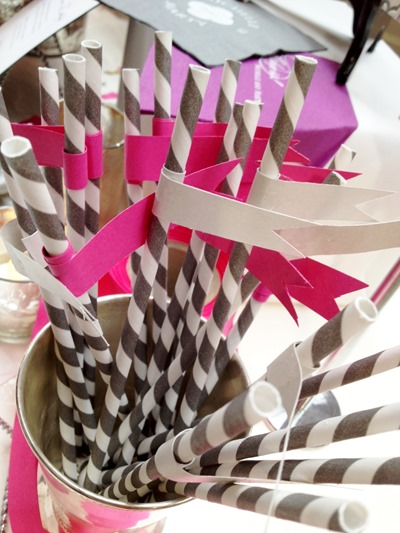 Hello Darling - Courtney Callahan Paper's striped straws at Indie Wed