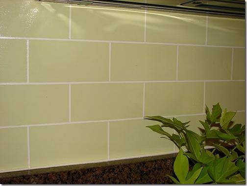 B.E. Interiors - painted glass tile backsplash