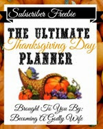Becoming a Godly Wife - Thanksgiving Planner