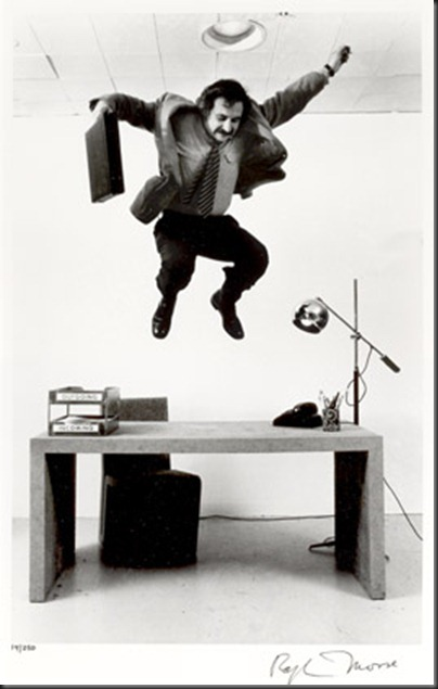 Frank Gehry Testing His Furniture Design, NYC, 1970