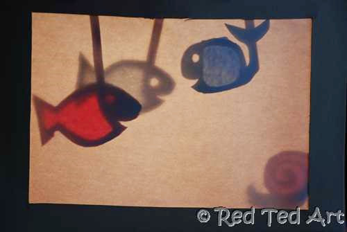 Shadow Puppet Theater from Red Ted Art