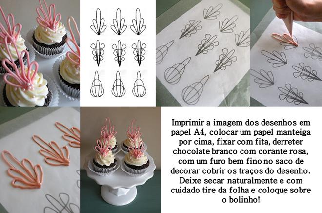 decoração do cupcake