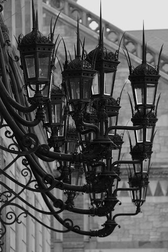 Spiky Lanterns on the Boston Public Library