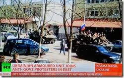 Blindados ucranianos mudam de mãos. Abr.2014