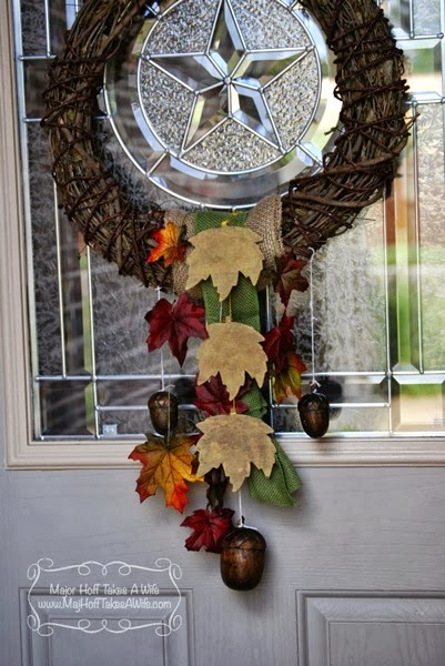 Best fall wreath pretty leaves