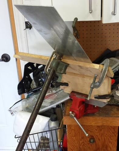 installation artisanale pour plier aluminium