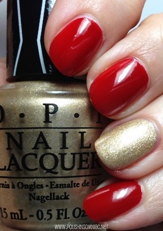 OPI Over & Over A-Gwen with Love, Angel, Music, Baby accent