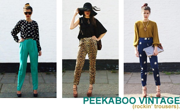 Ka-boom! Peekaboo have crashed landed onto the site with a crazy-cool vintage collection, that has nowt to do with retro stylin', but everything to do with standout pieces that'll stick with you for decades. It's a statement trouser master class, and we all just got schooled.