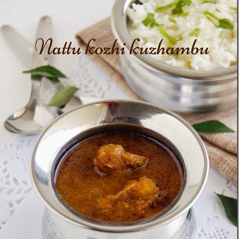 Arachuvitta nattu kozhi kuzhambu (without coconut)