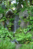 A waterfall in the Imperial Palace Gardens