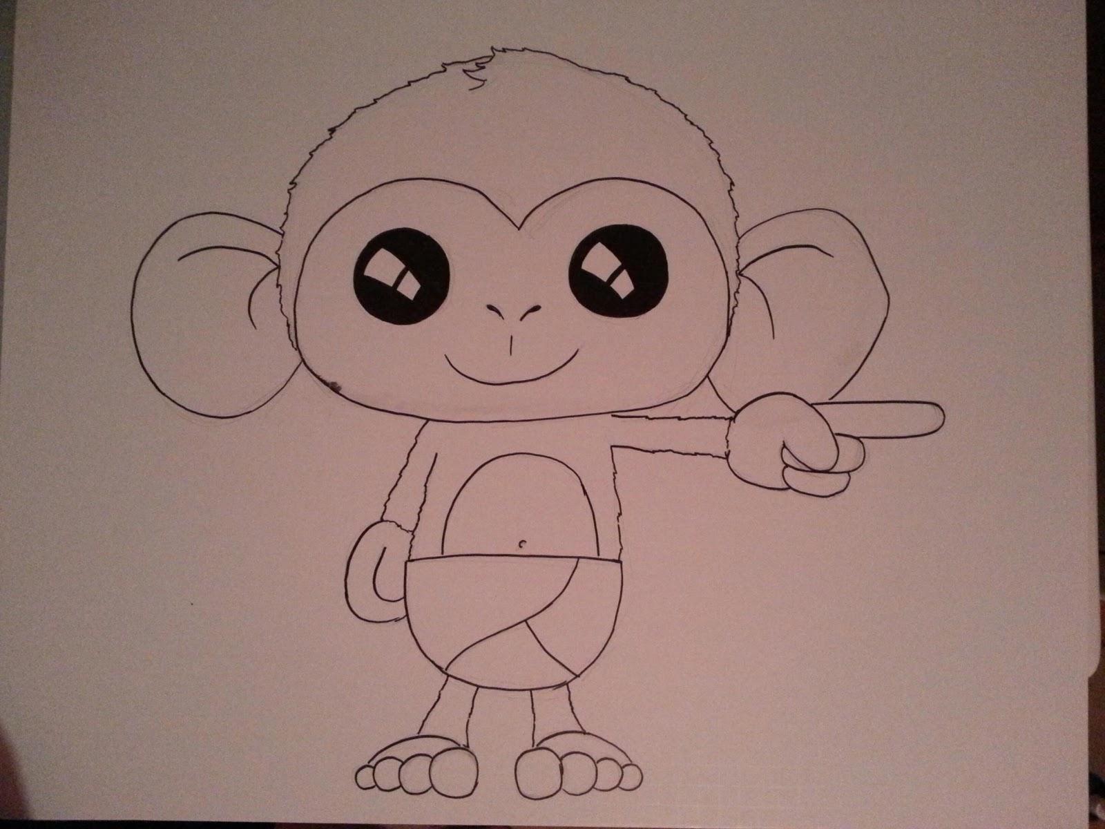 drawings 39 n 39 whatnot baby shower monkeys