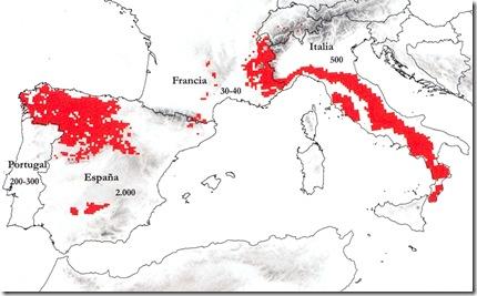 mapa españa-francia-italia