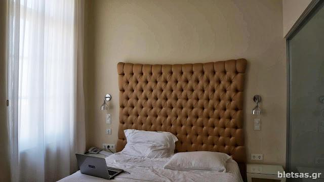 Το κρεβάτι στο ξενοδοχείο που μείναμε.