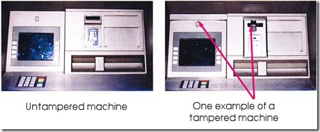 tampered machine