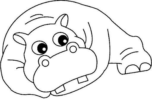 Pintar hipopotamos - Coloriage hippopotame ...