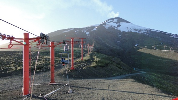 Teleférico no Vulcão Villarrica