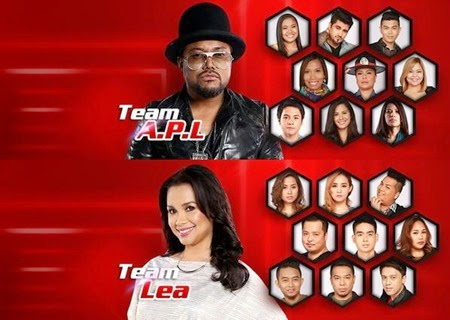 Team Apl and Team Lea - The Voice of the Philippines 2