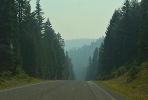 our beautiful Wood River Valley with the Casade Crest to the west...all hidden by smoke