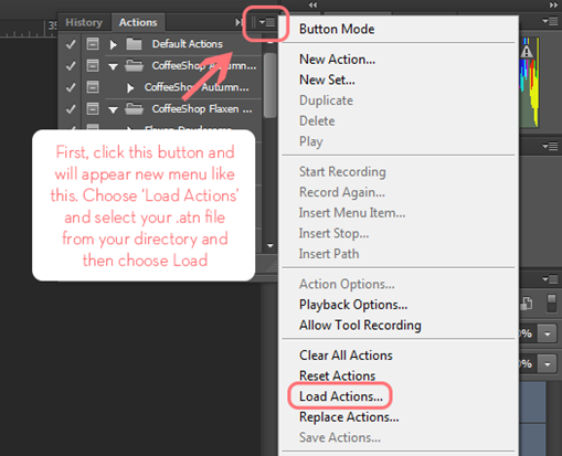 how to load action file