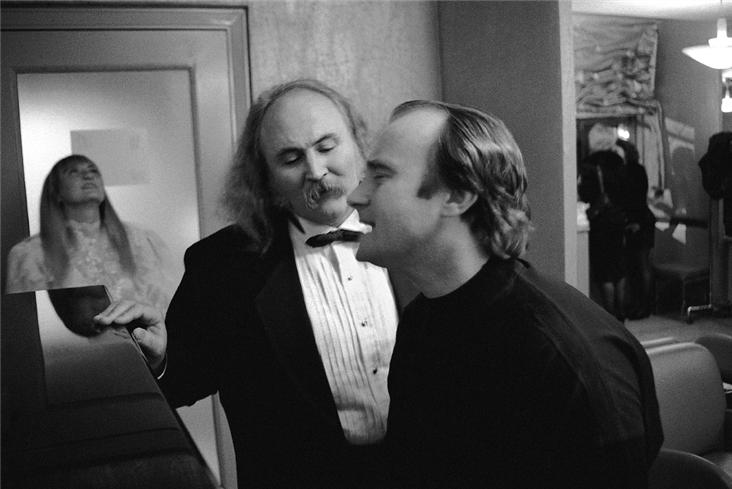 Graham Nash - David Crosby and Phil Collins, NYC 1989.jpg