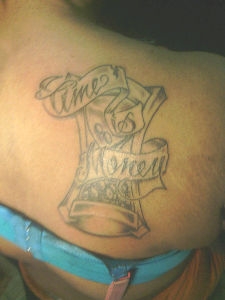 Tattoos by carl time is money for Time is money tattoo