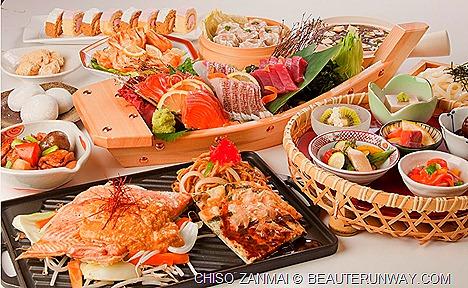 CHISOZANMAI Japanese buffet restaurant sashimi, sushi, tempura, tuna, prawns, desserts, The Central, Clarke Quay