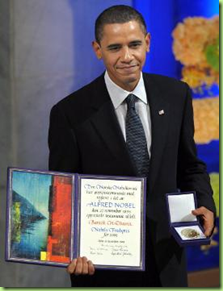 obama receives nobel